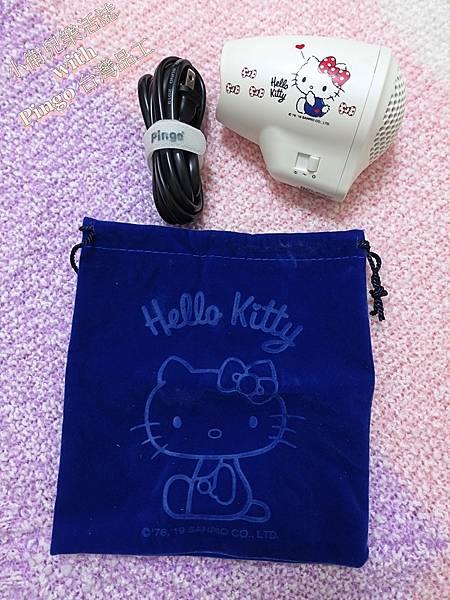美髮用品. Hello Kitty x Pingo Travel Qmini 極輕隨身掌型吹風機