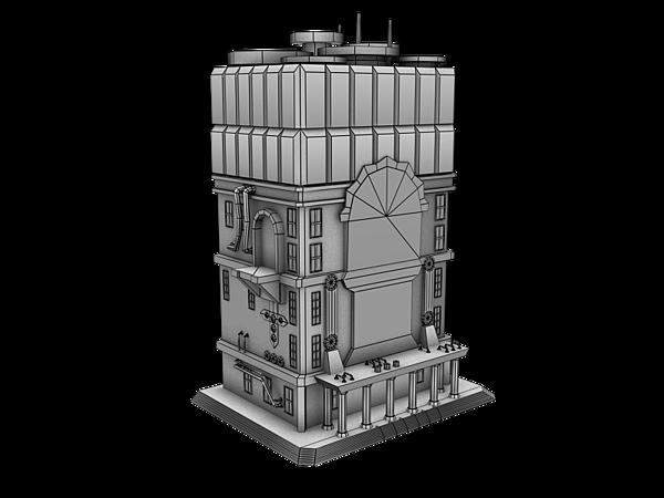 公司日本案_LOW POLY遊戲建築素模