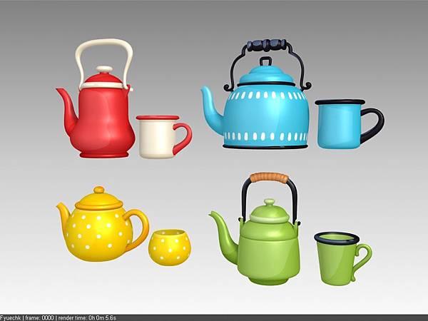 公司內部案子物件_茶壺茶杯