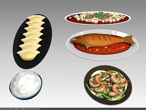 公司內部案子物件_餐盤+食物_中式料理