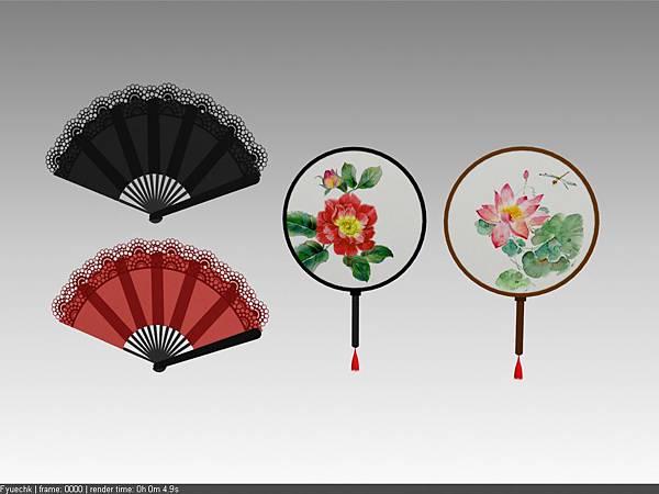 公司內部案子物件_中國扇子(古代旗袍)