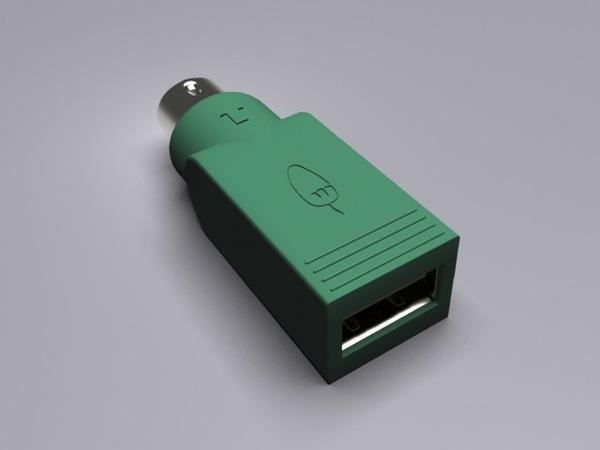 USB轉PS2接頭