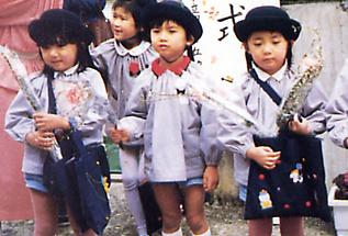幼稚園卒業式光