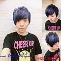 藍黑挑水藍加紅紫