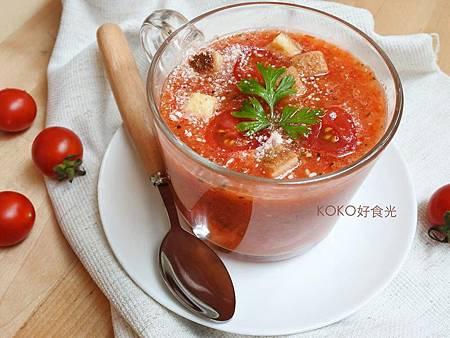 義式羅勒番茄冷湯(十分鐘免開火)