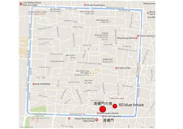 清邁門地圖