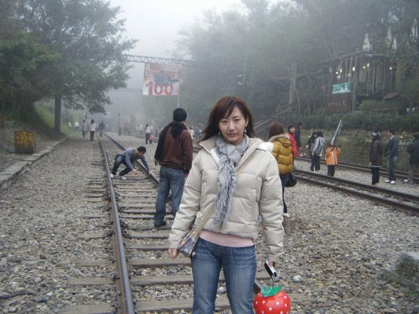 勝興車站的鐵軌前
