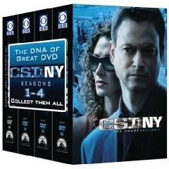 美版 CSI: NY 1-4 季 DVD 組合