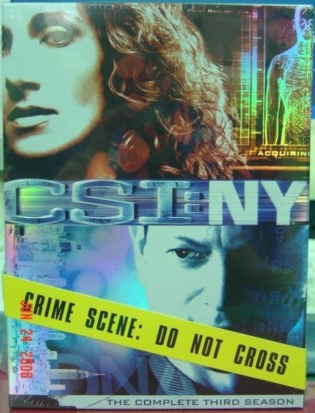 CSI: NY 第三季 DVD﹝正面﹞