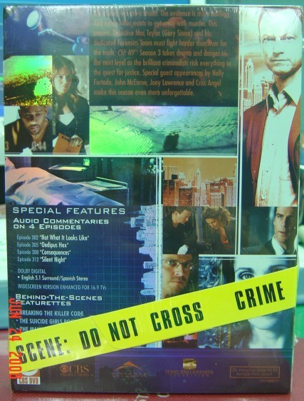 CSI: NY 第三季 DVD﹝背面﹞