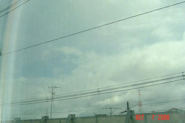 前往京都的新幹線上