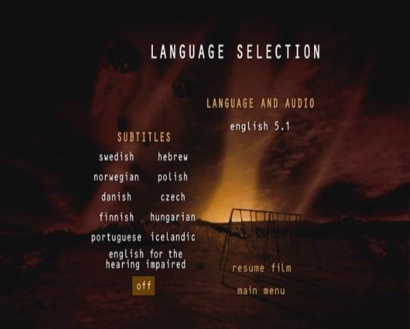 《征服未來》語言&發音選單