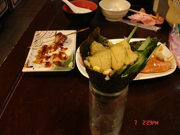 20090522-0607台北三味食堂-海膽手卷
