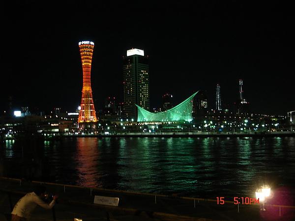 從摩塞克廣場看神戶港灣塔