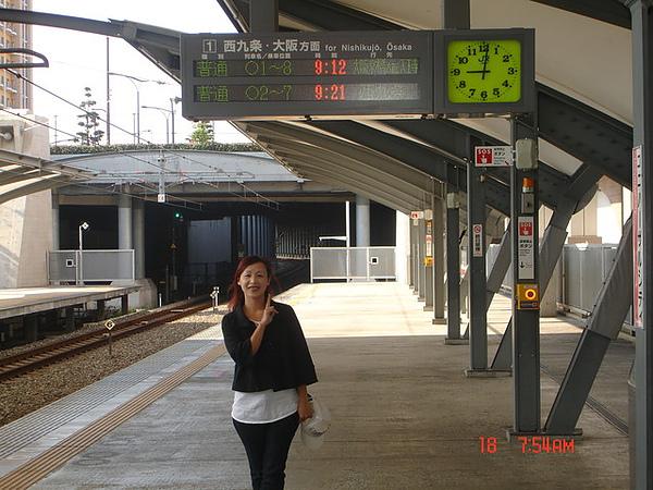 準備搭電車到大阪市區囉