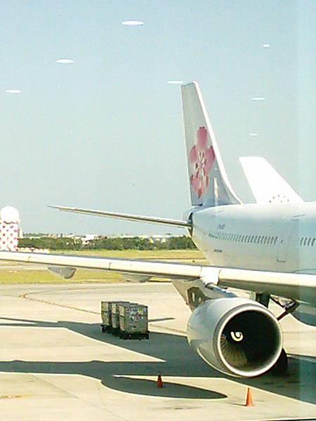 這是我門要準備搭乘的飛機唷^^