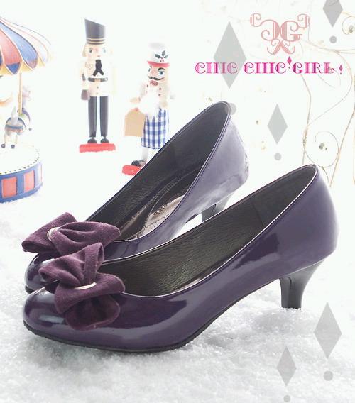 CHIC CHIC GIRL 日劇女主角第一指名氣質跟鞋 紫01.jpg