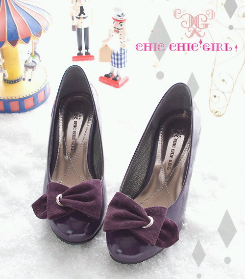 CHIC CHIC GIRL 日劇女主角第一指名氣質跟鞋 紫02.jpg