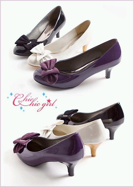 CHIC CHIC GIRL 日劇女主角第一指名氣質跟鞋 紫03.jpg