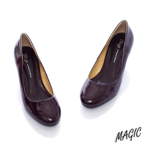 Magic☆優雅序曲~經典百搭款漆皮中跟鞋*紫02.jpg