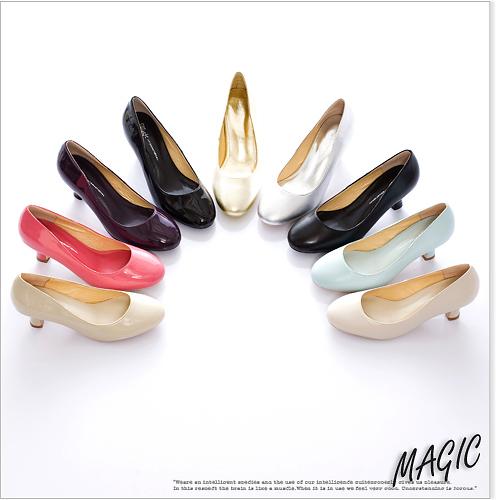 Magic☆優雅序曲~經典百搭款漆皮中跟鞋*紫03.jpg