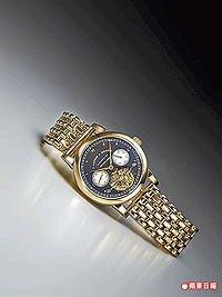 朗格芝麻鍊陀飛輪玫瑰金鍊帶錶。估價約410萬7100元起.jpg