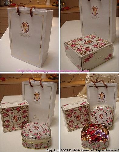 亞里莎喜餅送的糖盒.jpg