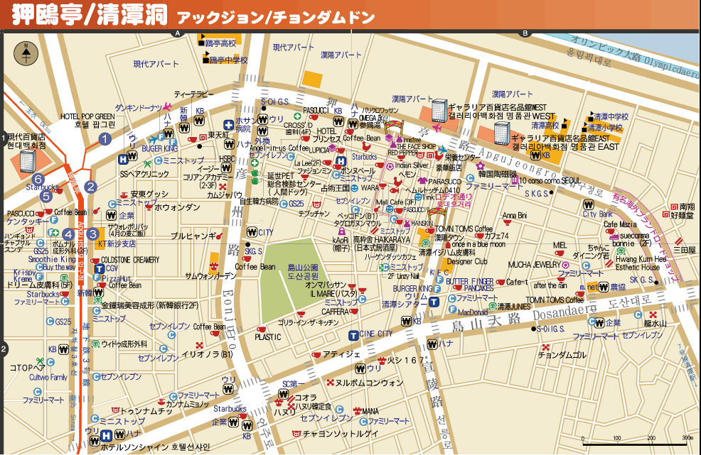 狎鷗亭地圖