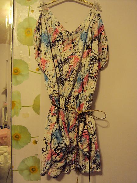 印象畫派洋裝790元/皮帶390