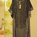 灰色豹紋長板上衣~590元