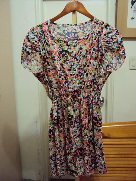 韓國棉碎花洋裝/紅色~890元