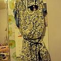氣質水藍洋裝(含皮帶)1980元