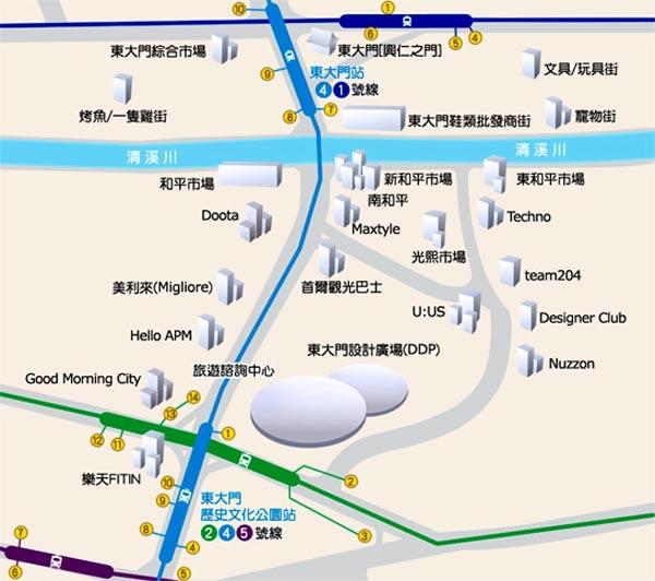 韓國 亞洲時尚 東大門商圈 MAP.jpg