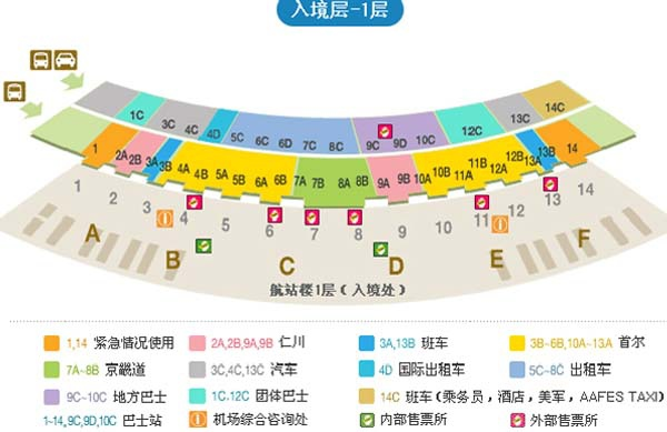 韓國仁川機場巴士地圖