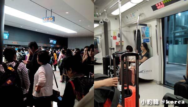 韓國首爾五天四夜自由行 day1.仁川機場搭機場快線2.jpg