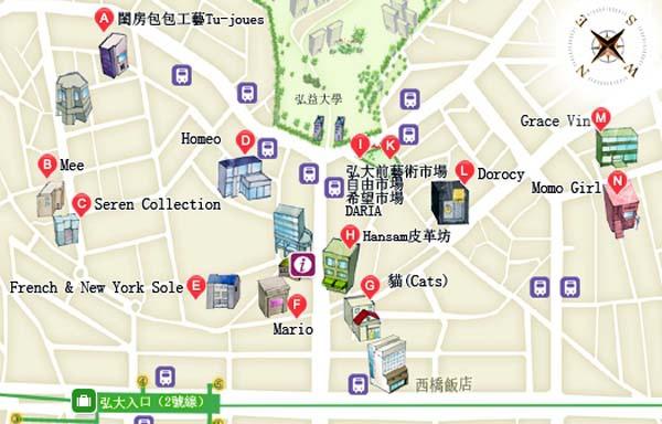 弘大假日創意手作市場map