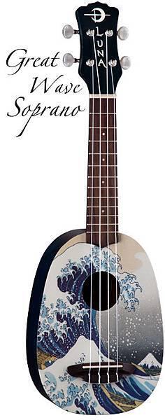 """Luna Greatwave 21"""" soprano ukulele"""