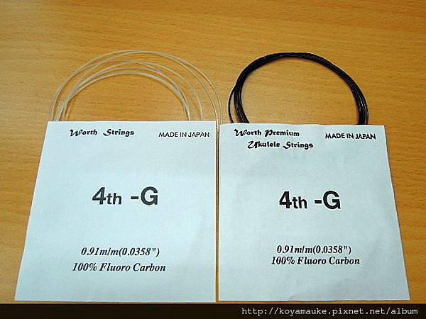 WORTH烏克麗麗弦:C-LG (透明 low G 單弦)