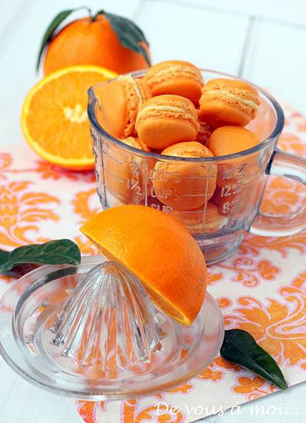 Macarons orange 4
