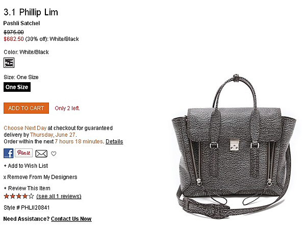 3.1 Phillip Lim Pashli Satchel   SHOPBOP   Use Code  EXTRA25 for 25  Off Sale Items.png