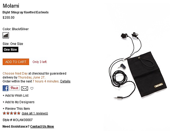 Molami Bight Stingray Knotted Earbuds   SHOPBOP   Use Code  EXTRA25 for 25  Off Sale Items.png