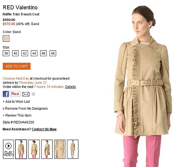 RED Valentino Ruffle Trim Trench Coat   SHOPBOP   Use Code  EXTRA25 for 25  Off Sale Items.png