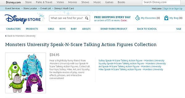 Monsters University Speak-N-Scare Talking Action Figures Collection   Disney Store.png