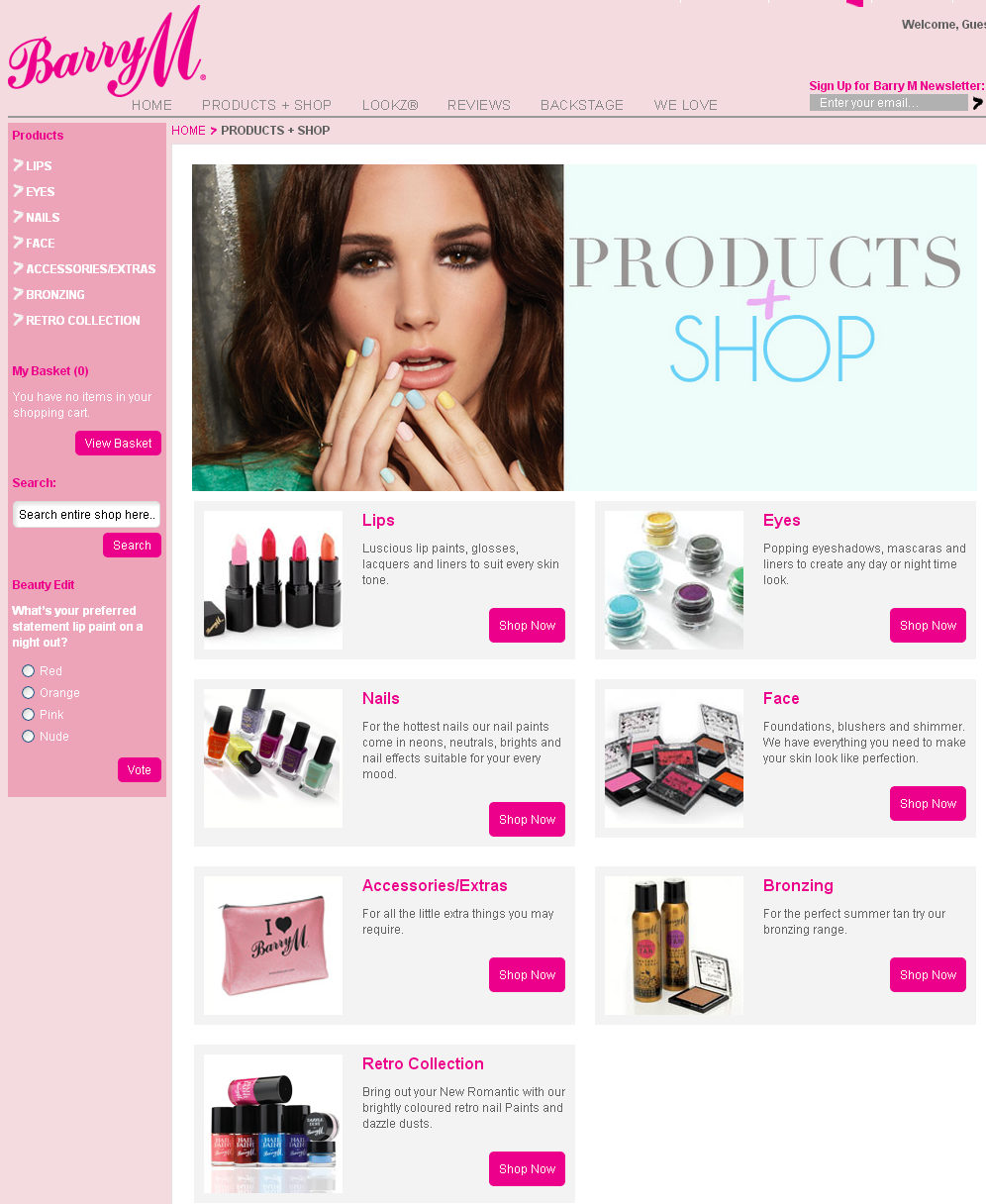 Products + Shop