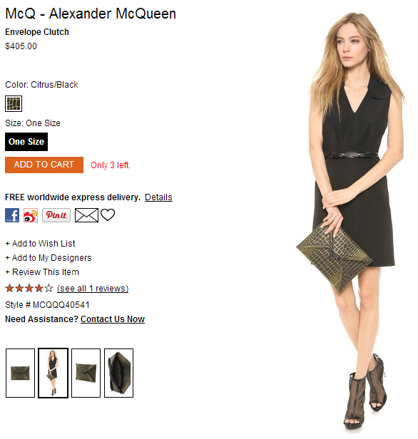 McQ - Alexander McQueen Envelope Clutch   SHOPBOP SAVE 25  use Code INTHEFAMILY14.png