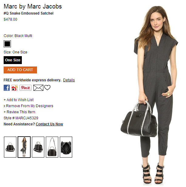 Marc by Marc Jacobs #Q Snake Embossed Satchel   SHOPBOP.png
