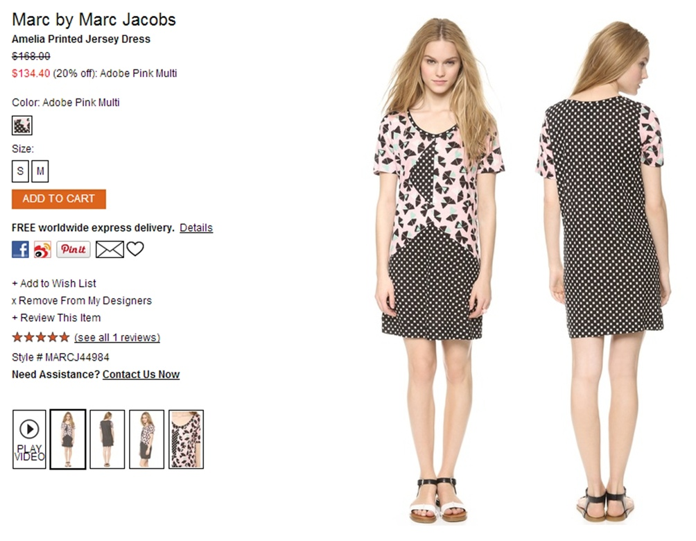 Marc by Marc Jacobs Amelia Printed Jersey Dress   SHOPBOP-horz.jpg