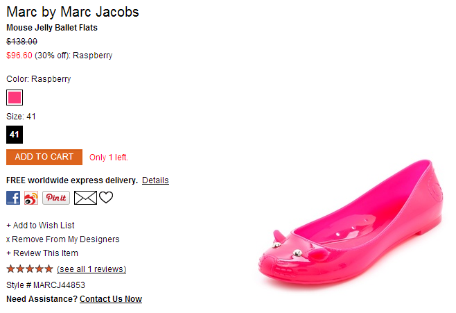 Marc by Marc Jacobs Mouse Jelly Ballet Flats   SHOPBOP.png