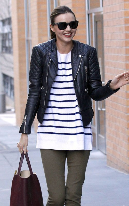 Miranda-Kerr-Balenciaga-Leather-Jacket-The-Row-Striped-Sweater-Céline-Cabas-Shopper-tote-bag.jpg