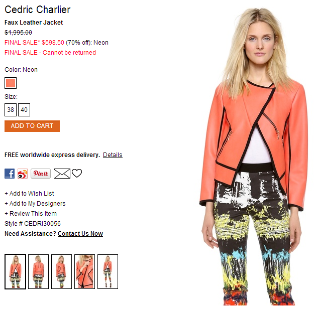 Cedric Charlier Faux Leather Jacket   SHOPBOP.png